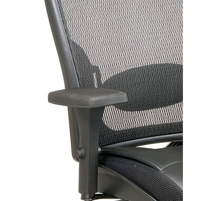 Office Star Products SPACE Professional Matrex Mid-Back Leather Office Chair with 4-Way Adjustable Arms