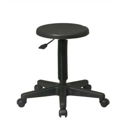 Office Star Products Height Adjustable Intermediate Stool with Dual Wheel