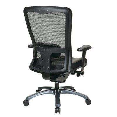 Office Star Products ProGrid High-Back Leather Chair