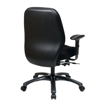 Office Star Products 24 Hour Ergonomic Chair with Synchro Tilt, Seat Slider and 2-Way Adjustable Arms
