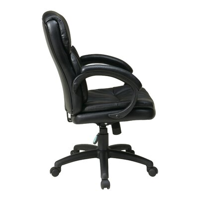 Office Star Products Mid-Back Eco Leather Conference Chair with Padded Arms