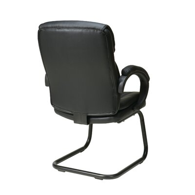 Office Star Products Eco Leather Back Guest Chair with Padded Arms