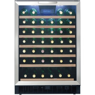 50 Bottle Single Zone Built-In or Freestanding Wine Refrigerator by Danby