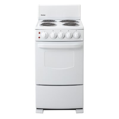 2.6 Cu. Ft Electric Range in White Product Photo