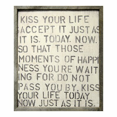 Sugarboo Designs Kiss Your Life Framed Painting Print