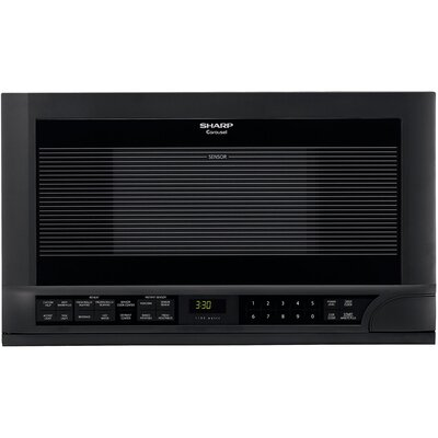 Sharp 1.5 Cu. Ft. 1100W Over-The-Range Microwave in Black