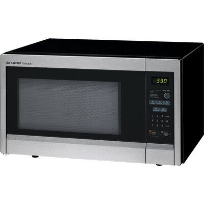 1.1 Cu. Ft. 1000W Countertop Microwave in Black by Sharp