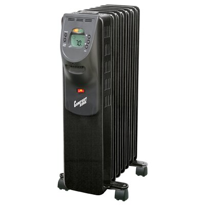 Portable Electric Radiant Radiator Heater with Casters by Comfort Zone