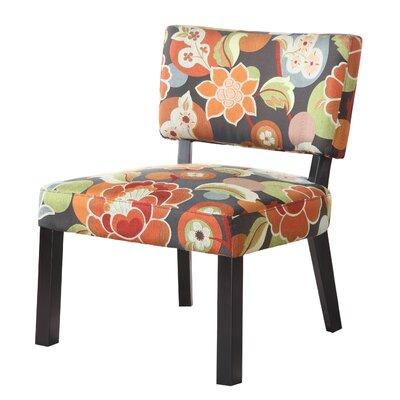 Powell Furniture Bright Floral Print Fabric Slipper Chair