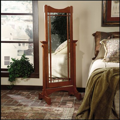 Mission Oak Cheval Mirror by Powell