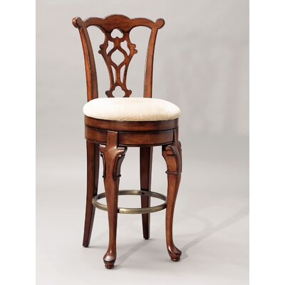 "Powell Furniture Jamestown Landing 30.75"" Swivel Bar Stool with Cushion"