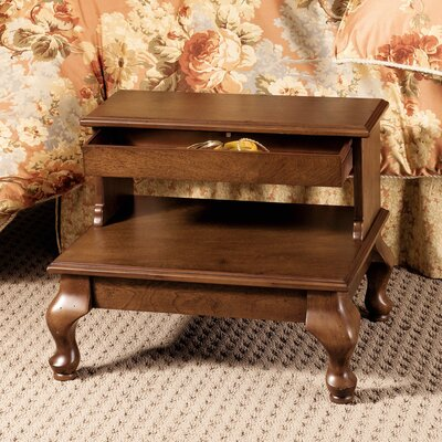 Powell Furniture Attic Cherry Bed Step
