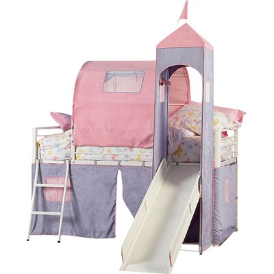 powell princess twin loft bed reviews wayfair. Black Bedroom Furniture Sets. Home Design Ideas