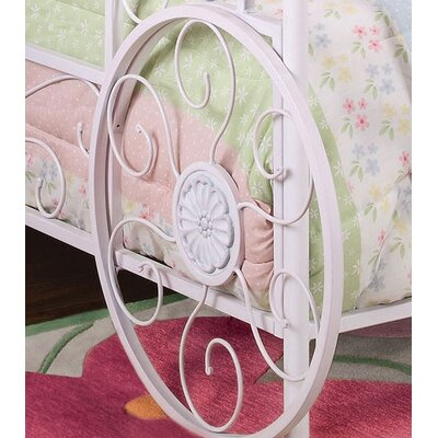 Powell Furniture Princess Emily Vintage Carriage Canopy Twin Bed