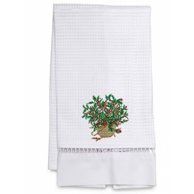 Waffle Weave Holly Basket Hand towel by Jacaranda Living