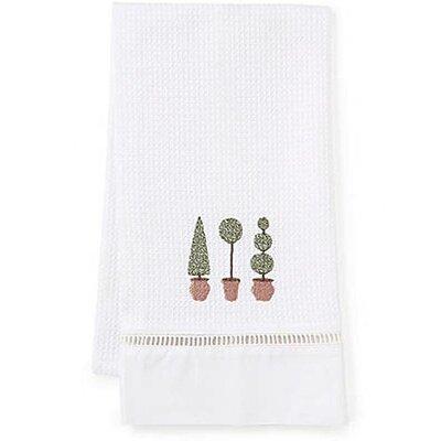 Three Topiary Trees Hand Towel by Jacaranda Living
