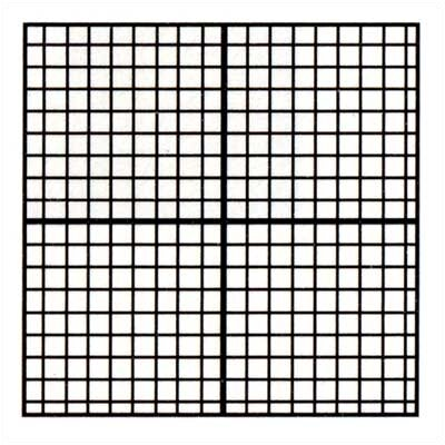 Marsh Coordinates Magnetic Graphic/Grid Whiteboard, 4' x 4'