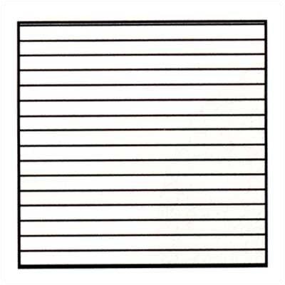 Marsh Horizontal Lines Magnetic Graphic/Grid Whiteboard, 4' x 8'