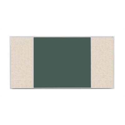 Marsh Crest-Line XL Series H Configuration Antique White Magnetic Bulletin Board and Chalkboard