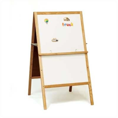 Marsh Children's Easels - Teacher's Helper Easel Free-Standing Magnetic Whiteboard, 4' x 2'