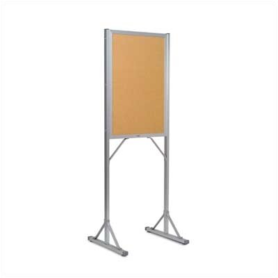 Marsh Double Pedestal Open Face Free-Standing Bulletin Board, 6' x 2'
