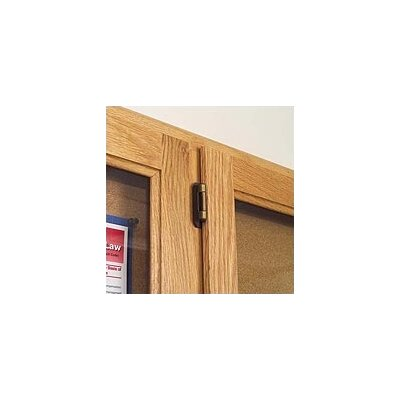 Marsh Double Pedestal Enclosed Wall Mounted Bulletin Board