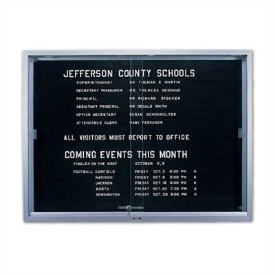 Marsh 'S' Series Sliding Glass Enclosed Wall Mounted Letter Board
