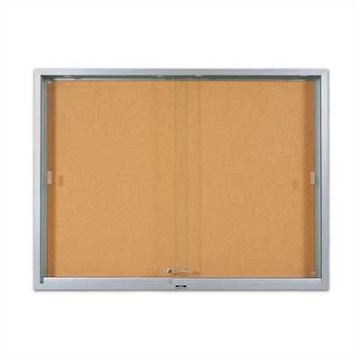 Marsh 'S' Series Sliding Glass Enclosed Wall Mounted Bulletin Board