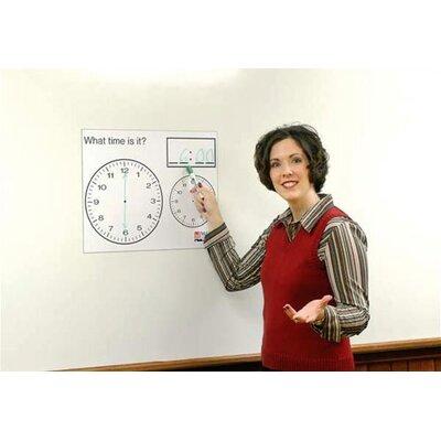 Marsh Dry-Erase Teaching Aides Mat - Music Staff Magnetic Whiteboard, 3' x 3'