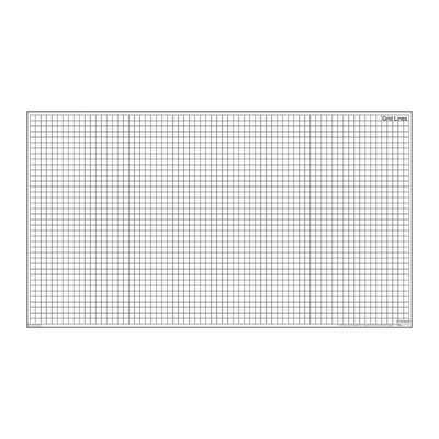 Marsh Dry-Erase Teaching Aides Mat - Grid Lines Magnetic Whiteboard, 3' x 3'