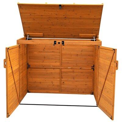 Leisure Season Horizontal Refuge 6 Ft. W x 3 Ft. D Wood Storage Shed