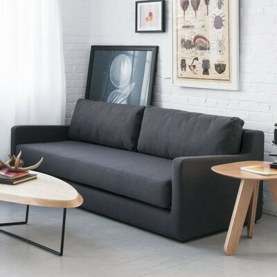 Gus modern flip sleeper sofa reviews wayfair for Gus sectional sleeper sofa