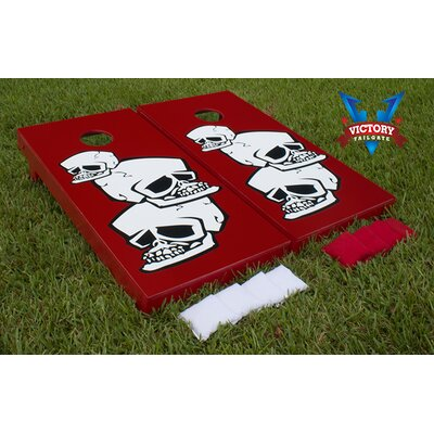 Skulls Stacked Cornhole Bean Bag Toss Game by Victory Tailgate