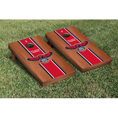 Victory Tailgate NBA Rosewood Stained Stripe Version 10 Piece Cornhole