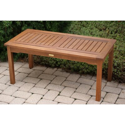Outdoor interiors eucalyptus coffee table reviews wayfair for Wayfair outdoor coffee table