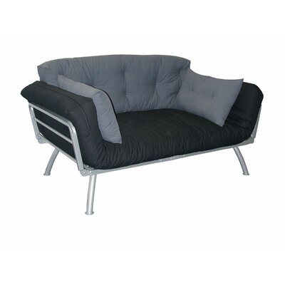 Mali-Flex Multi-Positional Twin Futon - Coal/Pewter by Elite Products