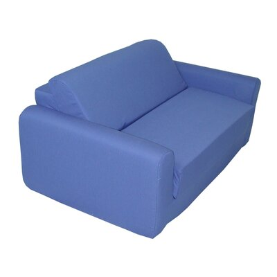 Royal Blue Children's Foam Sleeper Sofa by Elite Products