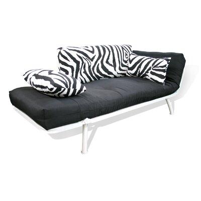 Elite Products Mali Flex Zebra Sofa/Cushion Combo Futon
