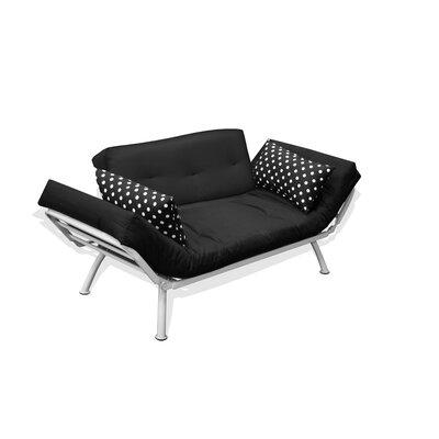 Mali Flex Sofa/Cushion Combo Futon in Black Polka Dot by Elite Products