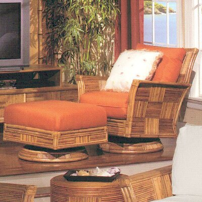 Palma Swivel Rocker Glider and Ottoman by Acacia Home and Garden