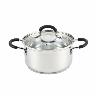 Stainless Steel Stock Pot with Lid by Cook N Home