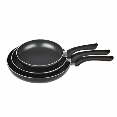 3 Piece Non-Stick Saute Fry Pan Set by Cook N Home