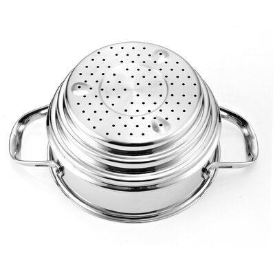 Cooks Standard Multi-Ply Clad Stainless-Steel Universal Steamer Insert with Lid