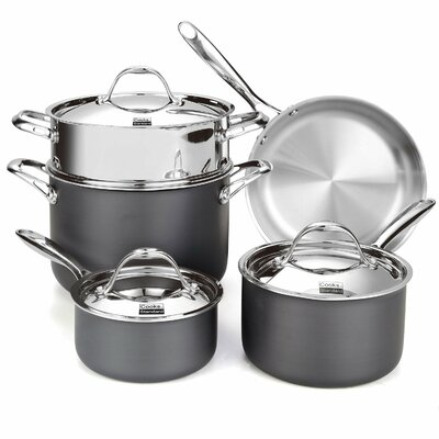 Multi-Ply Clad Hard Anodized 8-Piece Cookware Set by Cooks Standard