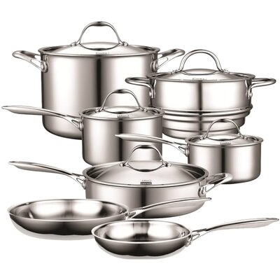 Cooks Standard 12 Piece Multi-Ply Clad Stainless-Steel Cookware Set