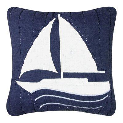 Nantucket Dream Sailboat Quilt Cotton Throw Pillow by C & F Enterprises