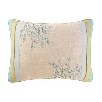 Natural Shells Patchwork Cotton Lumbar Pillow by C & F Enterprises