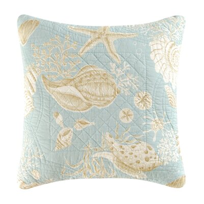 Natural Shells Quilt Cotton Throw Pillow by C & F Enterprises