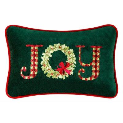 Joy Velvet Cotton Lumbar Pillow by C & F Enterprises