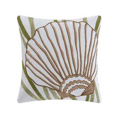 Shell Accent Cotton Throw Pillow by C & F Enterprises